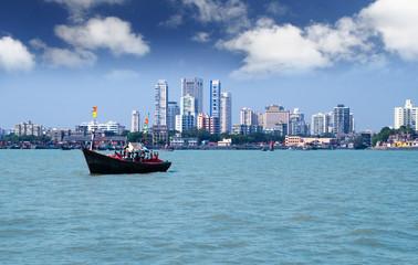 Mumbai skyline view from the sea