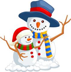 Vector illustration of christmas snowman