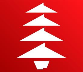 albero di natale su sfondo bianco