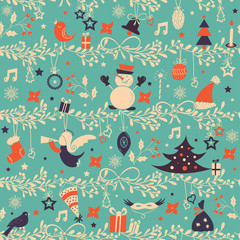Christmas pattern background.