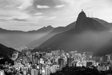 Aluminium Prints Rio de Janeiro Night view of Rio de Janeiro