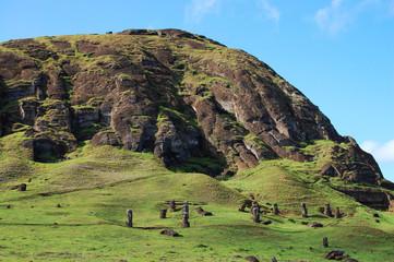 Rano Raraku Mountain - Easter Island Wall mural