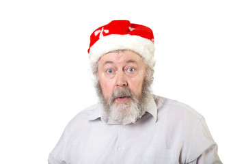 Emotional real Santa Claus