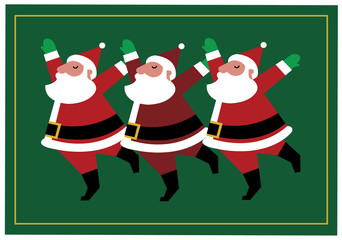 Holiday Dance / Three Santas Dancing