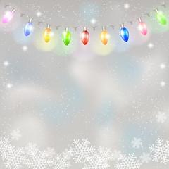 Christmas light garland.