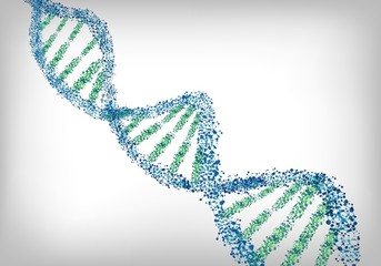 DNA green blue background