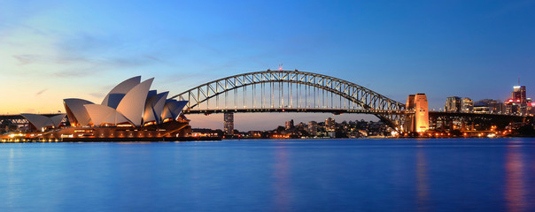 Photo sur Plexiglas Sydney Opera & Panorama