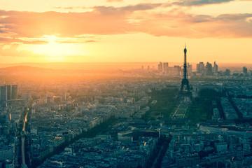 Fotobehang Eiffeltoren Vintage style of Paris skyline