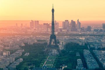 Vintage style of Paris skyline