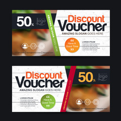 discount voucher template with clean and modern pattern and You can put pictures related businesses.Vector illustration
