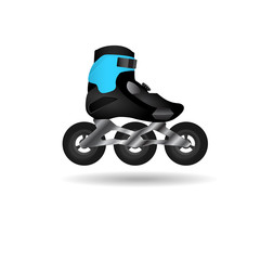Off-road roller skate icon.