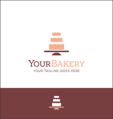 wedding cake logo for bakery or wedding related site