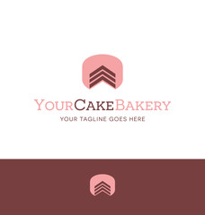 cake logo for bakery or catering business