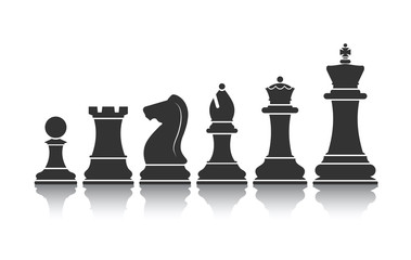 chessmen icon vector