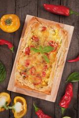 Phyllo pastry pizza