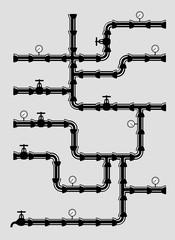 Scheme of water system .veсtor illustration