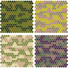 abstract camouflage from hexagons