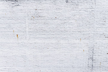 White brick wall texture background and pattern