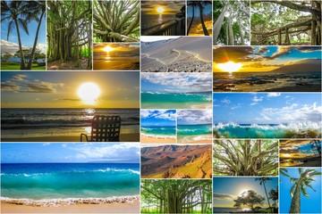 Maui beaches collage