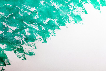 background from watercolor paints turquoise