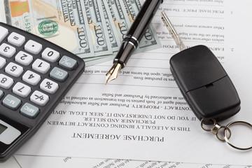Kaufvertrag mit den Autoschlüsseln