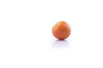 vine tomatoes on white background.