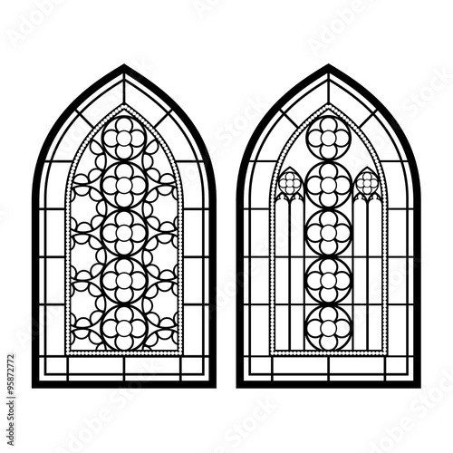 Gothic Windows Vintage Frames Church Stained Glass Stock Image And Royalty Free Vector Files On Fotolia