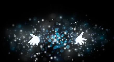 Wall Mural - magician hands with magic
