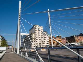 Bridge in the center of Malmo city, Sweden