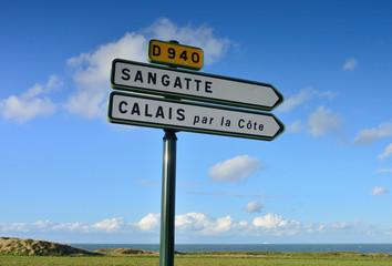 route côtière pour Calais