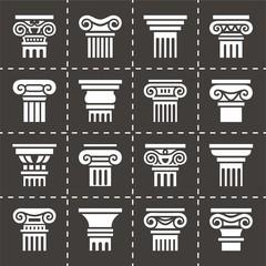 Vector Column icon set