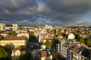 Panoramic view of the town Pleven, Bulgaria
