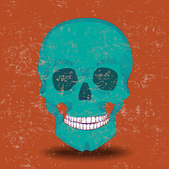Cyan skull