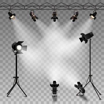 Spotlights Transparent Background