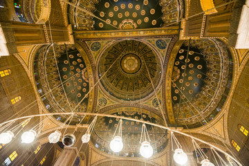 Inside of the mosque of Muhammad Ali, Saladin Citadel of Cairo (Egypt)
