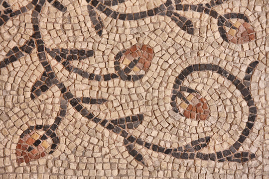 Ancient byzantine mosaic