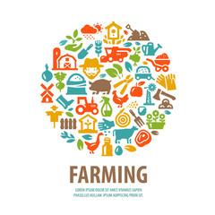 farm vector logo design template. horticulture or farming icons