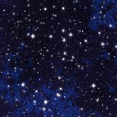 blue nebula background with stars