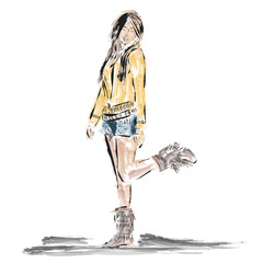 Drawing girl fashion style