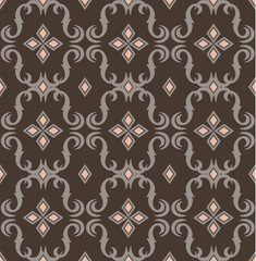 seamless expensive Victorian pattern in retro vintage style. vector illustration
