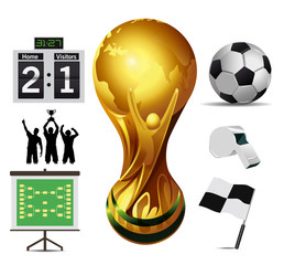 world cup and soccer elements