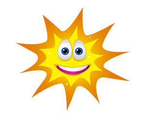 Happy Sun with smiled face