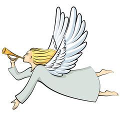 Cartoon Christmas angel