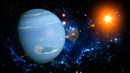 Neptune Planet Solar System space isolated
