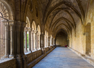 gallery of cloister of Tarragona Cathedral