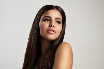 neutral makeup latin woman