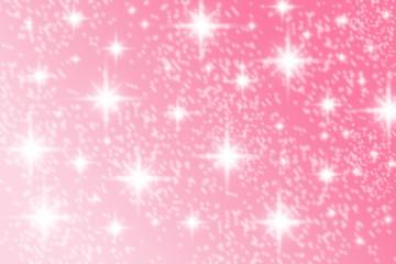 Beautiful white stars shining bright on blurred pink digital background