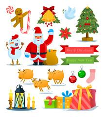 Christmas info-graphics element