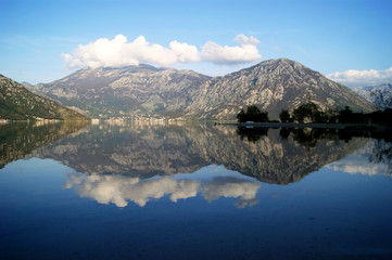 Mirrored water
