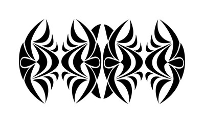 Tribal tattoo. Abstract black tribal ornament. Raster version
